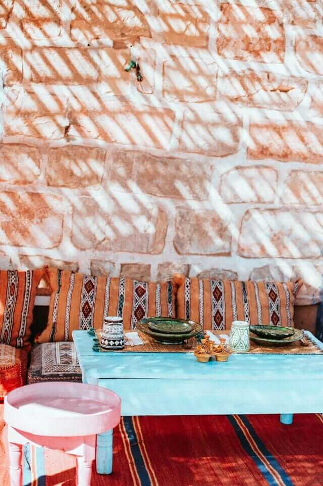 Eating table - Morocco Visiter