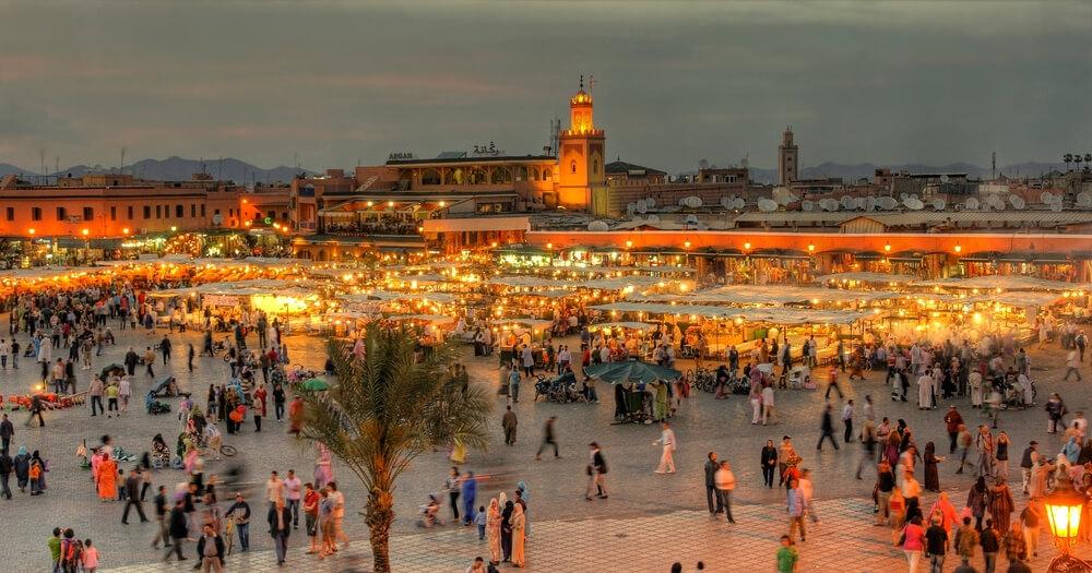 Morocco people Djemaa El-fna