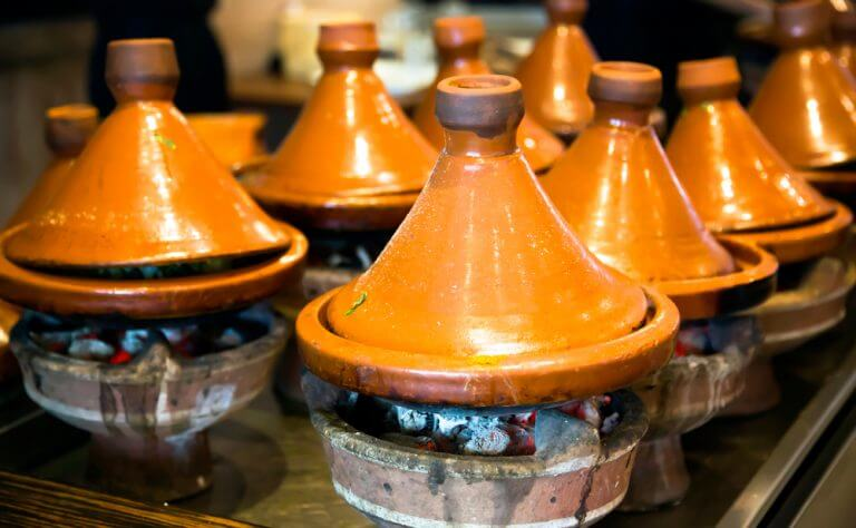 Morocco people Tagines cooking